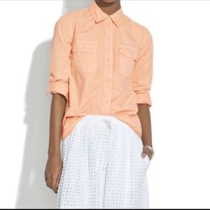 Madewell Lightweight Orange Tomboy Workshirt